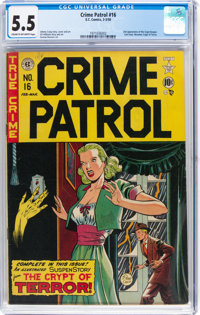 Crime Patrol #16 (EC, 1950) CGC FN- 5.5 Cream to off-white pages