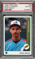 Baseball Cards:Singles (1970-Now), 1989 Upper Deck Randy Johnson #25 PSA Gem Mint 10. ...