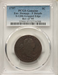 Large Cents, 1797 1C Reverse of 1795, Gripped Edge, S-120b, B-2b, R.2, -- Environmental Damage -- PCGS Genuine. Fine Details....