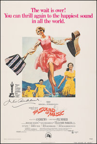 "The Sound of Music (20th Century Fox, R-1973). Fine/Very Fine on Linen. Autographed One Sheet (27"" X 41""). How..."