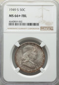 Franklin Half Dollars: , 1949-S 50C MS66+ Full Bell Lines NGC. NGC Census: (42/8 and 6/1+). PCGS Population: (230/12 and 41/4+). CDN: $375 Whsle. Bi...