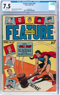 Feature Comics #97 (Quality, 1946) CGC VF- 7.5 Off-white pages