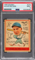 Baseball Cards:Singles (1930-1939), 1938 Goudey Julius Solters #279 PSA Mint 9 - Pop One, None Higher! ...