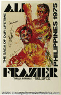 Boxing Collectibles:Autographs, Muhammad Ali Autograph Lot (3) A souvenir pennant from the ...