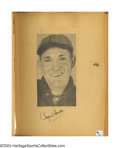 Autographs:Baseballs, Amazing 1930's Child's Autograph Scrapbook with Rare Hall of ...