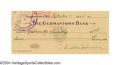 Autographs:Checks, 1945 Walter Johnson Signed Check Any autograph from The ...