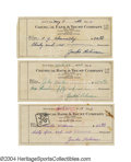 Autographs:Checks, 1948 Jackie Robinson Signed Check Collection. Lot of 3 ...