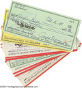 Autographs:Checks, Joe DiMaggio Signed Check Collection (10) A great dealer's ... (10 items)