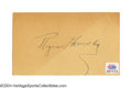 Autographs:Post Cards, 1934 Rogers Hornsby Signed Government Postcard The Hall of ...