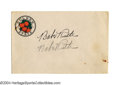 Autographs:Post Cards, Babe Ruth Twice Signed Envelope Why settle for just one ...