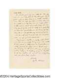 Autographs:Letters, 1947 Jackie Robinson Handwritten Letter and More Just two ... (2items)