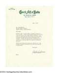 Autographs:Letters, 1957 Jackie Robinson Signed Letter Less than a year after ...