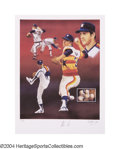 Baseball Collectibles:Others, Nolan Ryan Signed Lithograph by Christopher Paluso Paulso'...