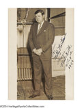 Autographs:Photos, 1933 Babe Ruth Signed Photograph Having just called his ...