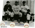 Autographs:Photos, DiMaggio, Crosetti and Camilli Autograph Package Included ... (4items)