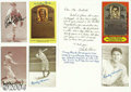 Autographs:Post Cards, Hall of Famers & Stars Signed Exhibit Card Collection (17) ... (17 items)