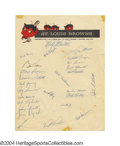 Autographs:Letters, 1953 St. Louis Browns Team Signed Sheet We've often ...