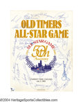 Autographs:Others, 1983 Old Timers All-Star Game Multi-Signed Program with ...