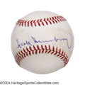 Autographs:Baseballs, Hank Greenberg Single Signed Baseball The past few years ...