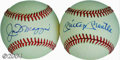Autographs:Baseballs, Joe DiMaggio & Mickey Mantle Single Signed Baseballs From ... (2 items)