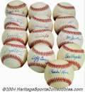 Autographs:Baseballs, Hall of Famers Single Signed Baseball Collection (13) A ... (13items)