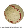 Autographs:Baseballs, 1934 Tour of Japan Team Signed Baseball with Ruth -Gehrig ...