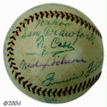 Autographs:Baseballs, Hall of Famers Multi-Signed Baseball with Cobb, Foxx A ...