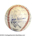 Autographs:Baseballs, 1935 San Francisco Seals Team Signed Baseball with DiMaggio
