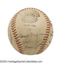 Autographs:Baseballs, 1939 Pittsburgh Pirates Team Signed Baseball Honus Wagner ...