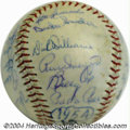 Autographs:Baseballs, 1954 Brooklyn Dodgers Team Signed Baseball The Bums couldn'...