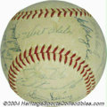 Autographs:Baseballs, 1957 Brooklyn Dodgers Team Signed Baseball Pristine ball ...