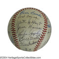 Autographs:Baseballs, Hall of Famers Multi-Signed Baseball Twenty-two Hall of ...