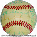 Autographs:Baseballs, 1978 Hall of Famers Multi-Signed Baseball Acquired by a ...