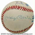 Autographs:Baseballs, Don Larsen Perfect Game Signed Baseball with Mantle This ...