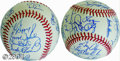 Autographs:Baseballs, 1990 American & National League All-Star Team Signed ... (2items)