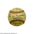 Autographs:Baseballs, 1954 New York Giants Team Signed Baseball Glory finally ...