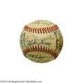 Autographs:Baseballs, 1955 New York Giants Team Signed Baseballs (2) A pair of ... (2items)