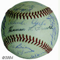 Autographs:Baseballs, 1965 & 1966 San Francisco Giants Team Signed Baseballs (3) ...(3 items)