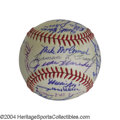 Autographs:Baseballs, 1967 San Francisco Giants Team Signed Baseballs (3) Super-... (3items)