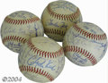 Autographs:Baseballs, 1970 San Francisco Giants Team Signed Baseballs (4) One ... (4items)