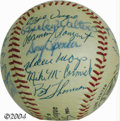 Autographs:Baseballs, 1971 San Francisco Giants Team Signed Baseballs (2) Pair ... (2items)