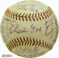 Autographs:Baseballs, 1972 San Francisco Giants Team Signed Baseballs (3) Two ... (3items)
