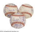Autographs:Baseballs, 1973 San Francisco Giants Team Signed Baseballs (3) ... (3 items)