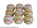Autographs:Baseballs, 1979, 1980, 1981 & 1982 San Francisco Giants Team Signed ... (9 items)