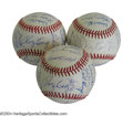 Autographs:Baseballs, 1989 San Francisco Giants Team Signed Baseballs (3) Not a ... (3items)