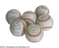 Autographs:Baseballs, 1990 San Francisco Giants Team Signed Baseballs (6) Gary ... (6items)