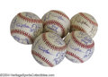 Autographs:Baseballs, 1997 San Francisco Giants Team Signed Baseballs (5) ... (5 items)