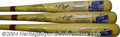 Autographs:Bats, Ernie Banks Signed Cooperstown Co. Bat Collection (3). ... (3items)