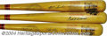Autographs:Bats, Williams, Yastrzemski & Boggs Signed Cooperstown Bat ... (3 items)