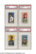 Baseball Cards:Singles (Pre-1930), 1911 T206 High Grade Collection of PSA NM-MT 8. Lot of 4 ... (4items)